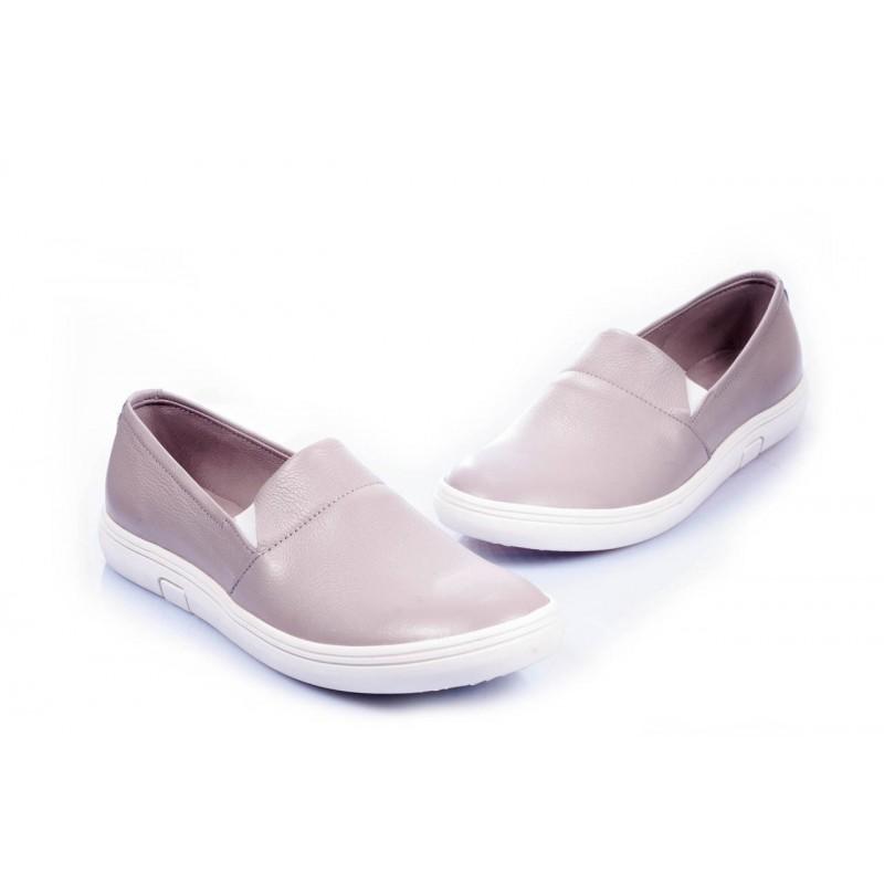 2c83252f20ccc Kožené dámske trendy tenisky svetlo fialovej farby - fashionday.eu