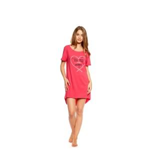 Romantická ružová nočná košeľa v ružovej farbe