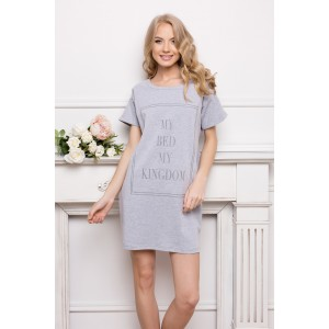 Sivá tričková nočná košeľa pre dámy