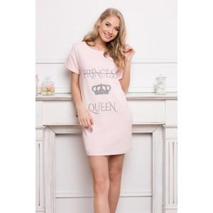 Dámska pohodlná nočná košeľa v ružovej farbe