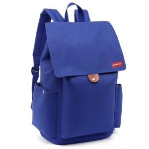 Moderný dámsky ruksak do školy v modrej farbe