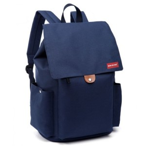Dámsky batoh v modrej farbe na chrbát