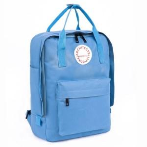 Školský batoh v modrej farbe na chrbat