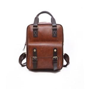 Dámsky štýlový ruksak v hnedej farbe