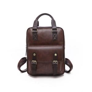 Kožený dámsky ruksak v hnedej farbe