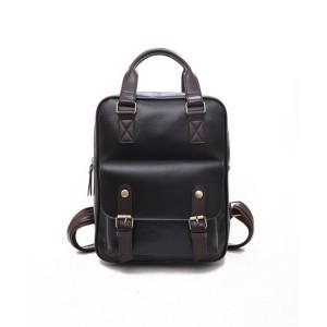 Čierny batoh na chrbát z kože