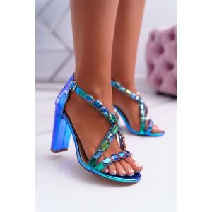 Štýlové dámske sandále na podpätku