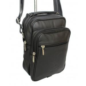 Štýlová pánska kabelka v čiernej farbe na rameno