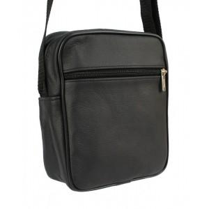 Pánska kabelka cez rameno v čiernej farbe