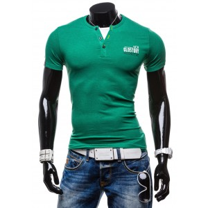 Pánske tričko zelenej farby Glo Story