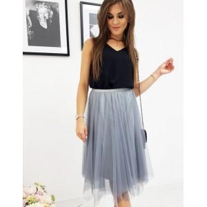 Štýlová dámska modrá sukňa