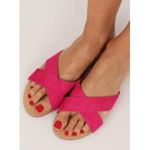 Pohodlné dámske šľapky v ružovej farbe