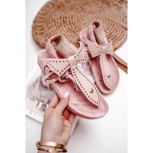 Elegantné dámske ružové sandále