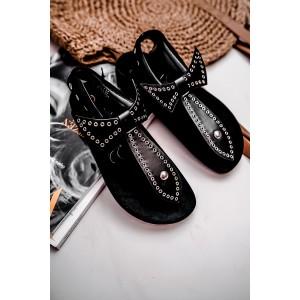 Čierne dámske sandále