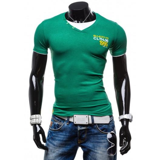 Pánske tričko v zelenej farby - fashionday.eu c63ae933c43
