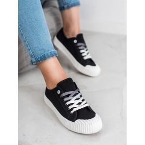 Čierne dámske topanky