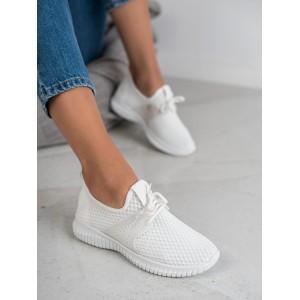 Dámske biele látkové topánky