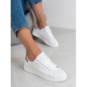 Moderné dámske tenisky v bielej farbe