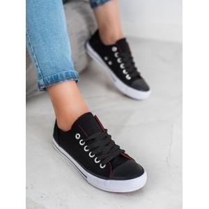 Dámske čierne botasky