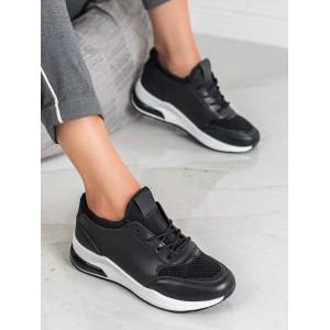 Čierne dámske kožené tenisky