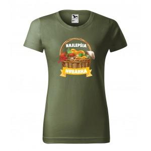 Dámske bavlnené tričko s vlastnou potlačou pre najlepšiu hubárku