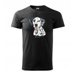 Trendy pánske tričko pre milovníkov psieho plemena dalmatínec