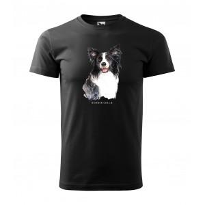 Módne pánske tričko pre milovníkov psieho plemena border collie