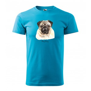 Tričko s potlačou pánske pre milovníkov plemena psov mopslíkov