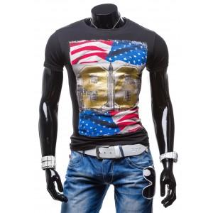 Pánske tričko čiernej farby s motívom mesta New York