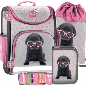 Ergonomická školská taška pre dievčatá a v mega trojdielnom sete