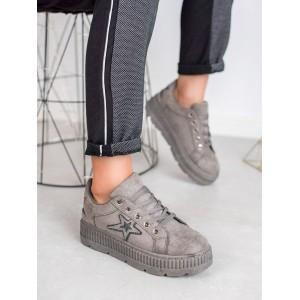 Sivé dámske topánky