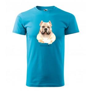 Pánske tričko pre milovníkov psieho plemena american bully