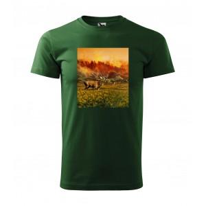 Krásne bavlnené pánske tričko pre vášnivého poľovníka s top potlačou