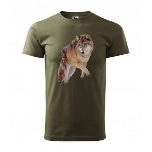 Bavlnené poľovnícke pásnke tričko s kvalitnou potlačou líšky