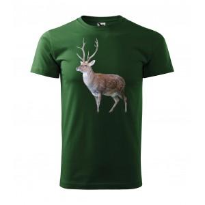 Pánske bavlnené tričko s potlačou pre vášnivého poľovníka