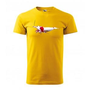 Pánske tričká pre vášnivého rybára s originálnou potlačou krevety