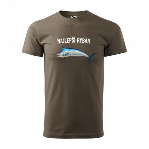 Originálne pánske tričko s pre najlepšieho rybára