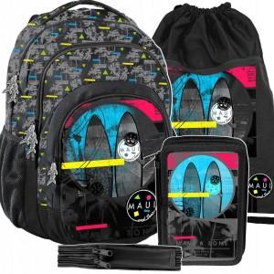 Kvalitný a trendy školský batoh pre stredoškolákov v trojsade
