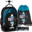 Originálny školský batoh na kolieskach v trojkombinácii s motívom surfu