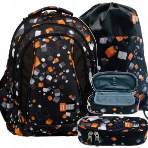 Kvalitný a ergonomický školský ruksak pre chlapcov v čiernej farbe