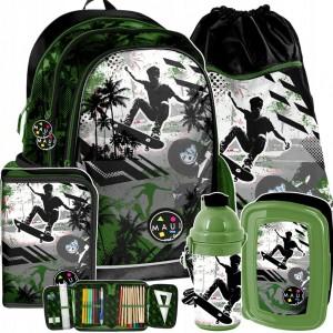 Školský set v zelenej farbe pre chlapcov