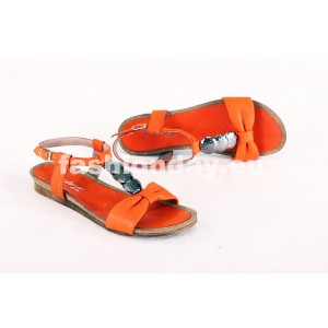 Dámske kožené sandále oranžové DT076
