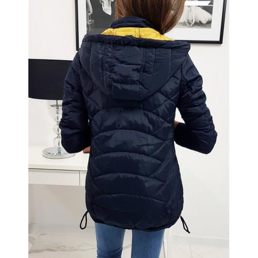 Dámska prechodná bunda v tmavomodrej farbe