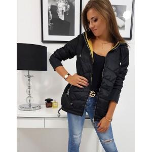 Moderná čierna dámska bunda