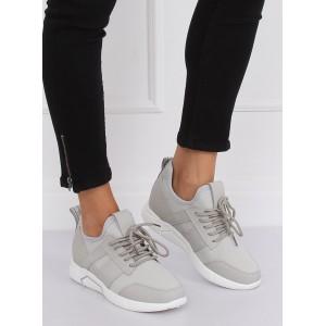 Pohodlná dámska športová obuv sivej farby