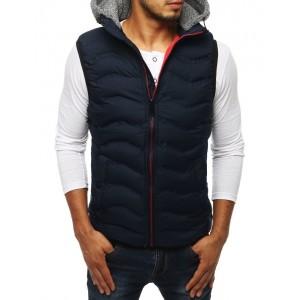 Pánska prešívaná vesta s odnímateľnou kapucňou