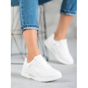 Biele dierkované tenisky pre dámy