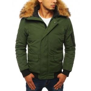 Pánska zimná bunda s kožušinou a vreckom na rukáve
