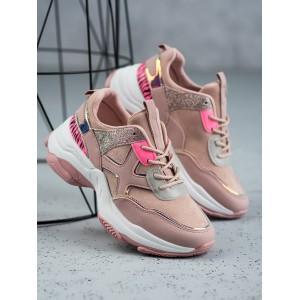 Moderné dámske tenisky v ružovej farbe
