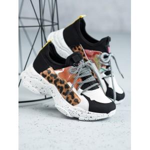 Leopardie tenisky na platforme pre dámy